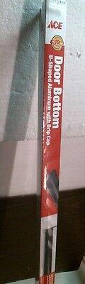 "Ace 26114  Vinyl U-Shaped Aluminum Door Bottom W/ Drip Cap 36"" Brown FREE SHIP"