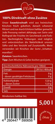 Bleichhof Sauerkirschsaft – 100% Direktsaft OHNE Zuckerzusatz, Bag in box (1x 5l
