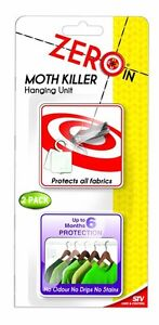 Zeroin Moth Killer Hanging Unit (Pack of 2)  ZER432