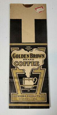 1930s Handbags and Purses Fashion Vintage 1930s-40s Golden Brown Brand Coffee Bag Glendora Products Warren PA $11.99 AT vintagedancer.com