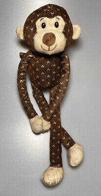 Sticky Hands Hugging Monkey Brown Cream Plush Stuffed Animal Soft Baby Toy 14""