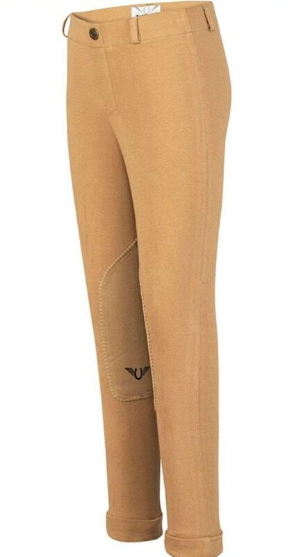NEW Tuffrider Lowrider Pull On Equestrian Girls Pants Size 12 Sand US $34