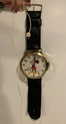 Mickey Mouse Walt Disney Prod. Vintage Wall Clock Watch Welby By Elgin