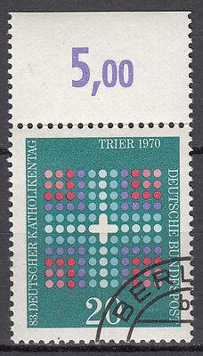 BRD 1970 Mi. Nr. 648 Gestempelt mit Oberrand LUXUS!!! (21552)