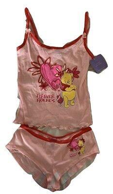 Women's Young Girls Winnie The Pooh Pink Pajama Nighty Set - Girls Pink Pajamas