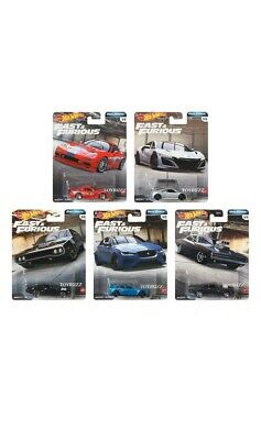 Hot Wheels 1:64 2020 FAST & FURIOUS FULL FORCE GBW75-956H SET OF 5 NEW