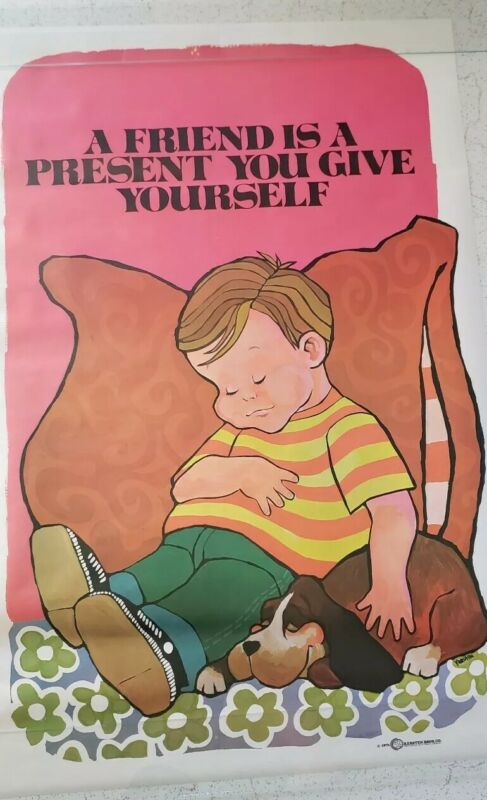 Vintage+Friend+Is+A+Present+You+Give+Yourself+Poster+1971+Kersten+Bros+NOS+Rare