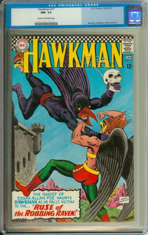 HAWKMAN #17 CGC 9.2 CR/OW PAGES