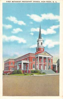 High Point North Carolina First Methodist Protestant Church Postcard J59209