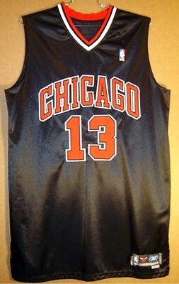 b4ee151f601 CHICAGO BULLS EDDIE BASDEN Black  13 Alternate NBA GAME WORN Size 52 JERSEY