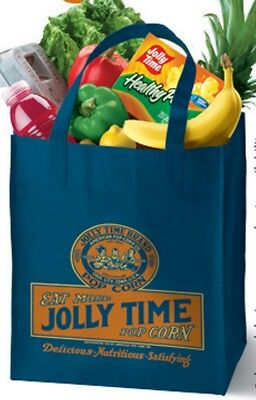 Jolly Time Popcorn Reusable Grocery Bag Sack Tote Canvas Shopping Eco Friendly