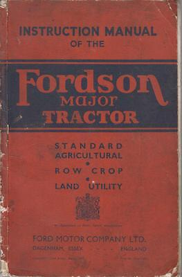 FORDSON MAJOR TRACTOR ORIGINAL 1947 OWNERS INSTRUCTION MANUAL