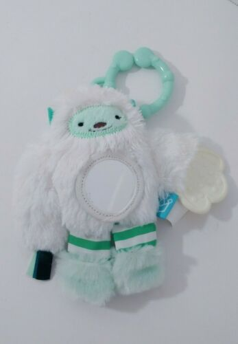 Manhattan toy Yeti plush Baby chime Rattle teether hanging ring clip travel