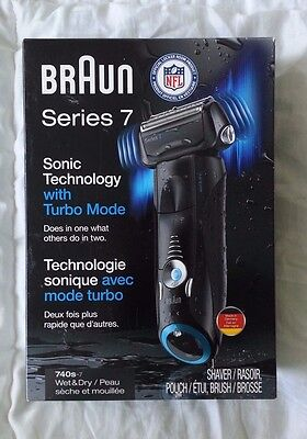 New Introduce Box Braun Series 7 Cordless Electric Shaver Razor Wet NFL 740s-7