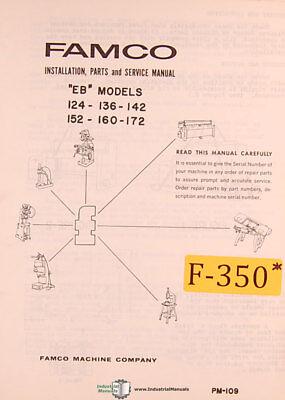 Famco Eb Models Shear Install Wiring Parts And Service Manual