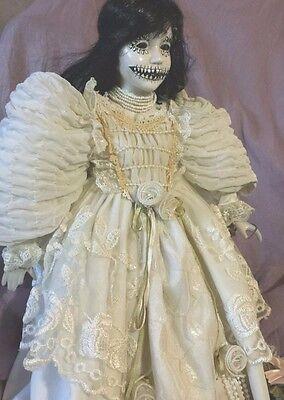 Lg Haunted house prop doll halloween vtg horror zombie walking dead bride day of - Walking Dead Halloween Doll