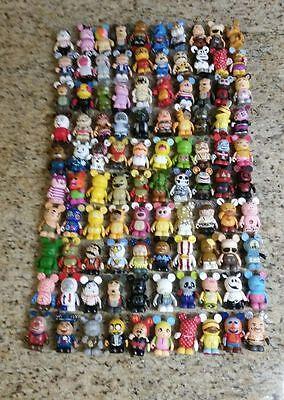 "Lot of 130 Random Disney Vinylmations 3"" Vinyl Toy Collectible Figures"