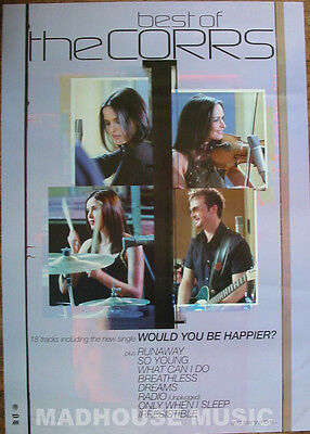 "CORRS POSTER Best Of UK PROMO ONLY rare 32"" x 24"" MINT"