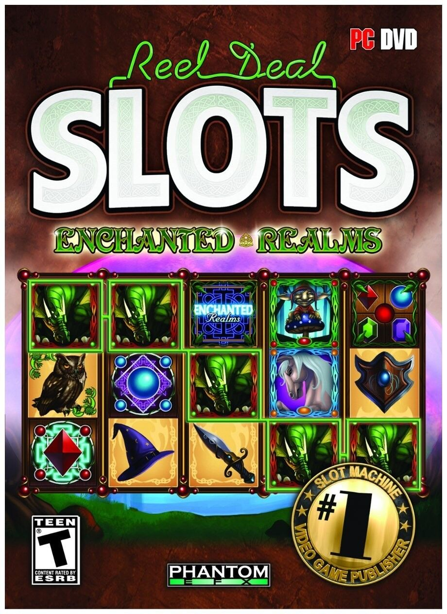 Computer Games - Reel Deal Slots Enchanted Realms PC Games Windows 10 8 7 XP Computer machine NEW
