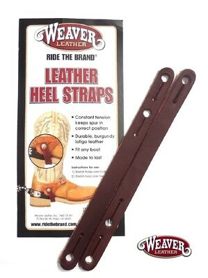 Heel Straps Leather Spur Tie Downs Pair by Weaver Leather New Free Shipping