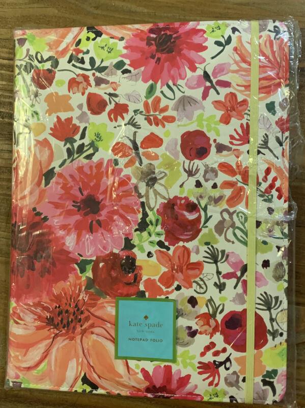 Kate Spade Notepad Folio Large Dahlia NWOT Legal Size