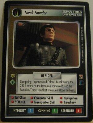 Star Trek TNG CCG Dominion Lovok Founder Rare Card