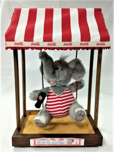 "Coca Cola Toy Circus Elephant on Swing ""Under the Big Top"" -Atlanta, GA - LMT 43"