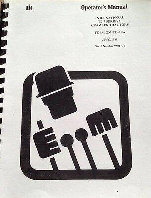 Dresser Td7e Operator Maintenance Manual International Ih Crawler Dozer 9500 Hi