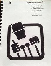 Dresser TD7E Operator Maintenance Manual International IH crawler dozer />9500 HI