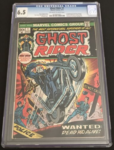 Ghost Rider #1 (1973) CGC 6.5 FN+ OW/WH 1st Cameo Appearance of Damian Hellstrom