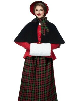Holiday Caroler Costume Charles Dickens Victorian Christmas Carol