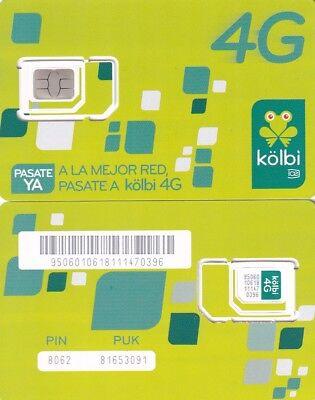 COSTA RICA.KOLBI, MOBILE SIM CARD MINT - Phone Cards Costa Rica
