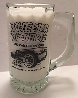 Usado, Wheels of Time Hot Rod Custom Beer Glass Jamboree Macungie PA 35yrs Aug 2013 Car segunda mano  Embacar hacia Argentina