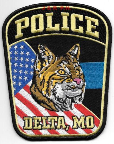 "Delta, Missouri (4.25"" x 5.25"" size) shoulder police patch (fire)"