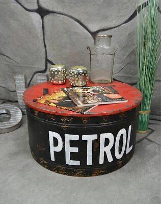 Couchtisch Beistelltisch Metall Ölfass Vintage Industrie Look LOFT Shabby LV5021 - Schlafzimmer Metall Beistelltisch