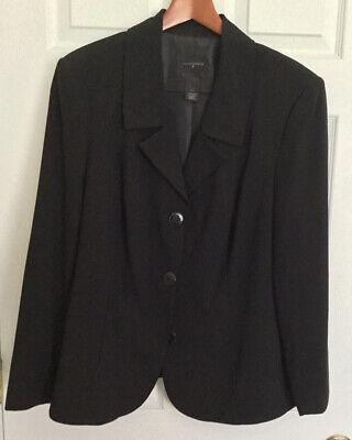womens investments 16w black blazer suit jacket top