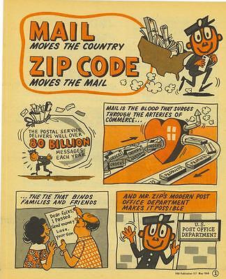 Post Office  Mr  Zip Comic Book  1968  Rare Comic Book