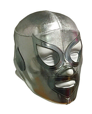 SANTO (pro-LYCRA) Adult Mexican Lucha Libre Wrestling Costume Mask - Silver](Wrestling Costumes Adults)