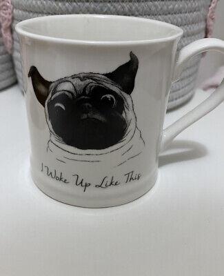 New I Woke Up Like This Pug Mug