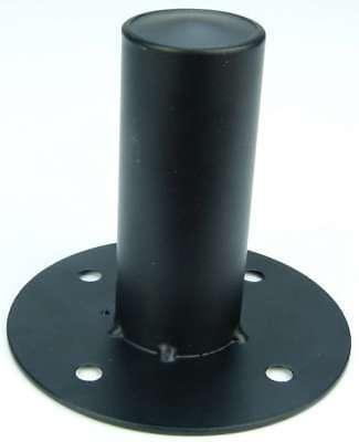 Boxenflansch Stahl schwarz - PA Boxen Flansch Einbauflansch für 35 mm Stative
