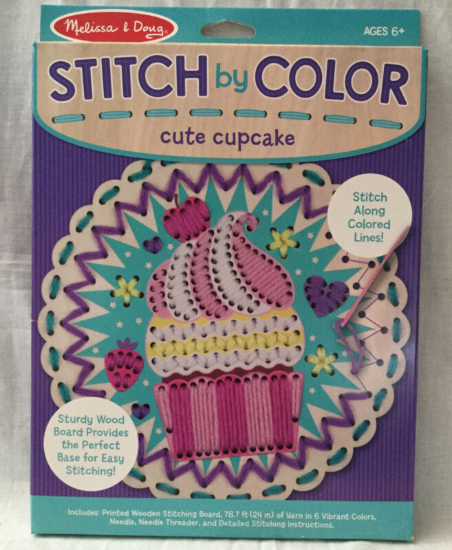 Melissa And Doug Stitch By Color Sewing Kit. NIB Cute Cupcake Design Ages 6+