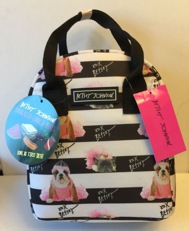 English And French Bulldog Adorable Insulated Lunch Tote