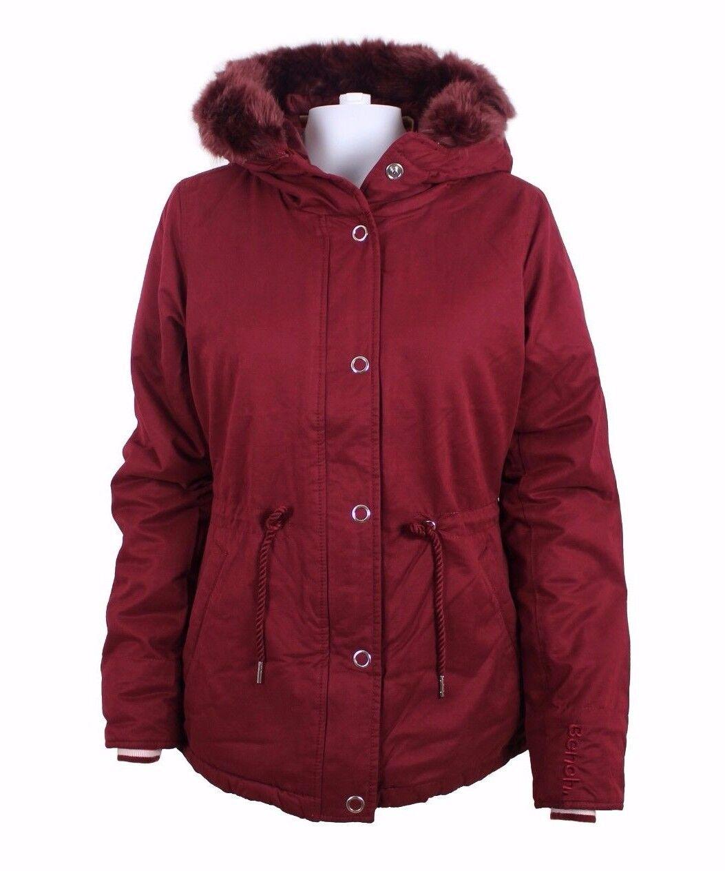 BENCH Damenjacke Wasserabweisende Jacke mit Kapuze und Tunnelzug Gr. M