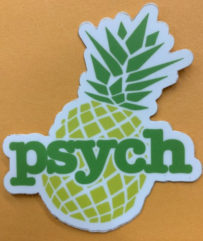"""Psych TV Show Pineapple Logo Sticker For Skateboard Car Laptop Luggage Decal 3"""""""