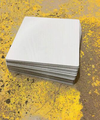 50ea Dye Sublimation Aluminum Square Blanks 4x4