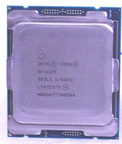 INTEL XEON W-2145 3.70-4.50 GHZ 8 CORE CPU 11 MB Cash SR3LQ, Actual pictures