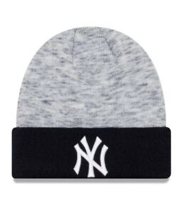 243cc95a17204 New Era New York Yankees Beanie knitwear Hat. Open Grey. One Size.