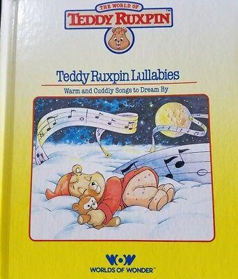 Teddy Ruxpin Lullabies Book Worlds of Wonder vintage children's book