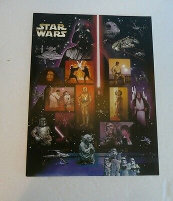 2007 Star Wars US Postage Stamp Sheet .41 Cent Stamps USPS NEW