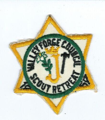 MINT 1959 Cut Edge Boy Scout Valley Forge Council Catholic Scout Retreat Patch